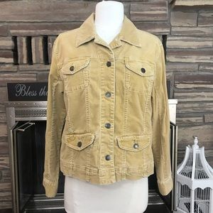 Tan corduroy jacket Chico's 1 medium